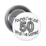 50 libras de botón perdido pin