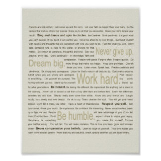 50 Life Lessons for My Daughter Posters