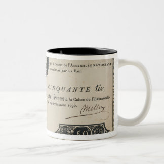 50 livres bank note, 29th October 1790 Two-Tone Coffee Mug