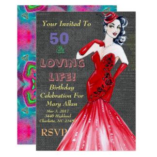 50 & Loving Life Party Invitations