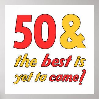 50 mejores regalos de cumpleaños póster