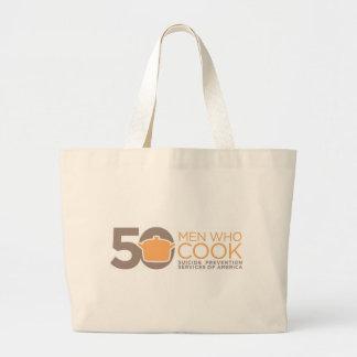 50 Men Who Cook Logo Apparel. Canvas Bag