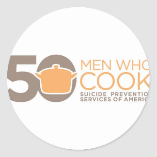 50 Men Who Cook Logo Apparel. Stickers