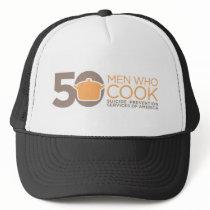 50 Men Who Cook Logo Apparel. Trucker Hat