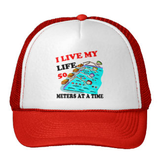50 meters at a time mesh hat