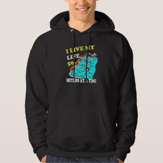 50 meters at a time hoodie