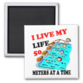 50 meters at a time fridge magnets