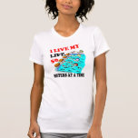 50 meters at a time tee shirt
