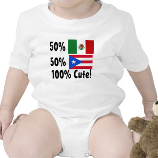 50% Mexican 50% Puerto Rican 100% Cute! Baby Bodysuit