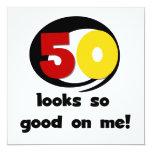 50 miradas tan buenas en mí camisetas y regalos invitación 13,3 cm x 13,3cm