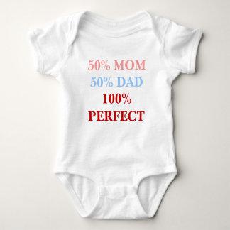 50% Mom 50% Dad 100% Perfect baby bodyshirt Baby Bodysuit