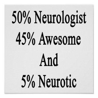 50 Neurologist 45 Awesome And 5 Neurotic Poster