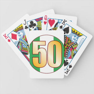 50 NIGERIA Gold Bicycle Playing Cards