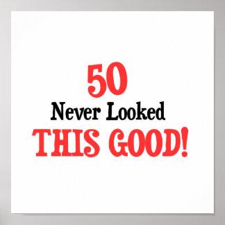50 nunca miraba esto bueno póster
