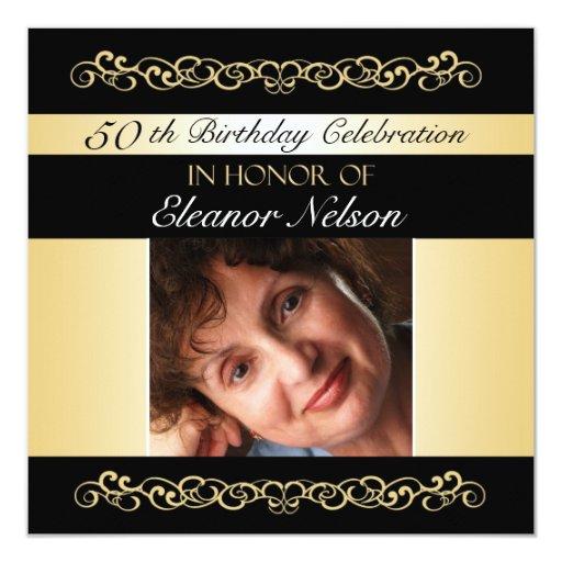 """50.o-59.o Invitaciones de la fiesta de cumpleaños Invitación 5.25"""" X 5.25"""""""