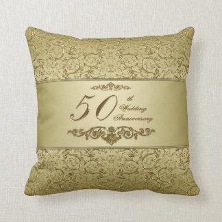 50.o Almohada de tiro del aniversario de boda