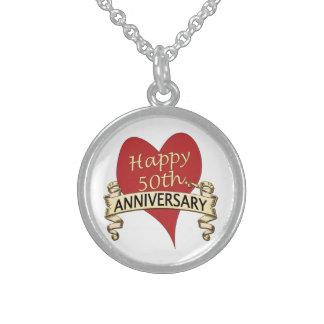 50.o. Aniversario Collar De Plata Esterlina