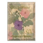 50.o aniversario color de rosa polvoriento antiguo invitaciones personales
