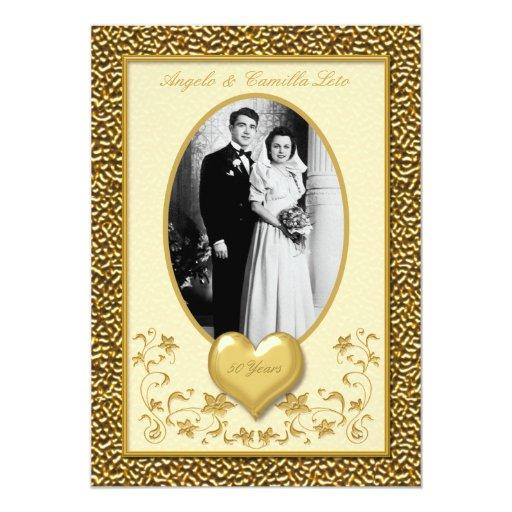 50.o Aniversario con la invitación del corazón del