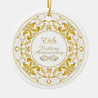 50.o Aniversario de boda 9 - ornamento Ornamento De Navidad