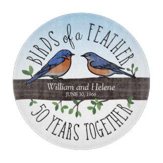 50.o Aniversario de boda, Bluebirds de una pluma Tablas Para Cortar
