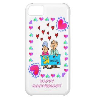 50.o aniversario de boda de oro, carcasa iPhone 5C