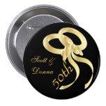 50.o Aniversario de boda de oro Pin