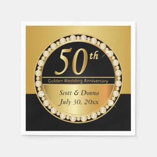 50.o Aniversario de boda de oro Servilleta De Papel