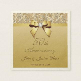 50.o Aniversario de boda del oro Servilleta Desechable