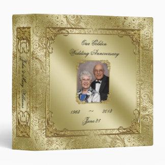 "50.o aniversario de boda elegante 1,5"" carpeta de"