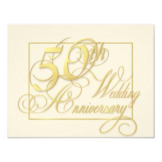 """50.o Aniversario de boda - invitaciones baratas Invitación 4.25"""" X 5.5"""""""