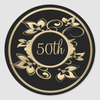 50.o Aniversario de boda o pegatina del cumpleaños