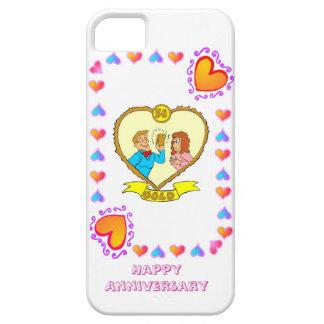 50.o aniversario de boda, oro funda para iPhone SE/5/5s
