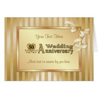 50.o Aniversario de boda - oro Tarjeton