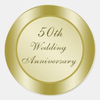 50.o Aniversario de boda Pegatina Redonda