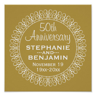 50.o Aniversario de boda personalizado Posters