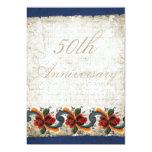 50.o Aniversario de boda - Rosemaling Invitacion Personalizada