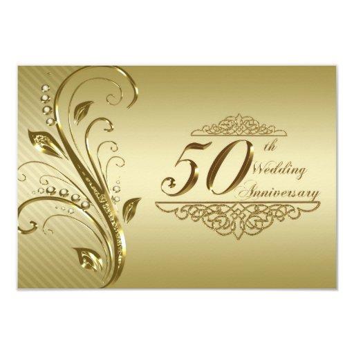 """50.o Aniversario de boda RSVP Invitación 3.5"""" X 5"""""""
