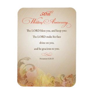 50.o Aniversario de boda, señor religioso Bless Imanes De Vinilo