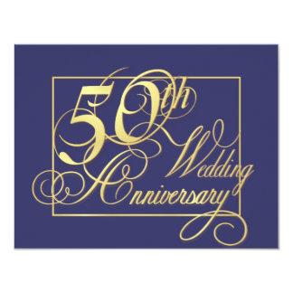 """50.o Aniversario de boda - Special de la economía Invitación 4.25"""" X 5.5"""""""