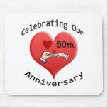 50.o. Aniversario de boda Tapetes De Raton