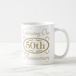 50.o Aniversario de boda Taza Básica Blanca