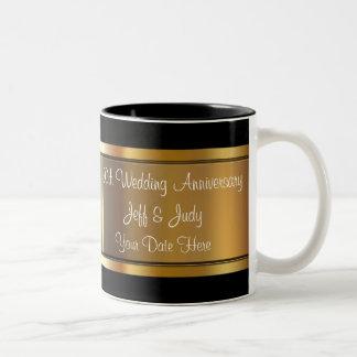 50.o Aniversario de boda Taza De Dos Tonos