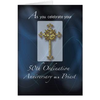 50.o Aniversario de la ordenación del jubileo del Tarjeta De Felicitación