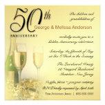 50.o aniversario elegante - invitaciones cuadradas anuncio
