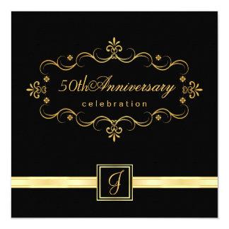 50.o aniversario elegante - invitaciones del invitación 13,3 cm x 13,3cm