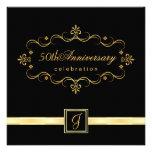 50.o aniversario elegante - invitaciones del monog comunicados personales