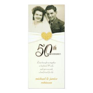 50.o aniversario - falsas invitaciones de la foto anuncios personalizados