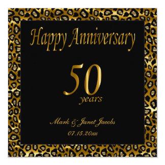 """50.o aniversario feliz invitación 5.25"""" x 5.25"""""""