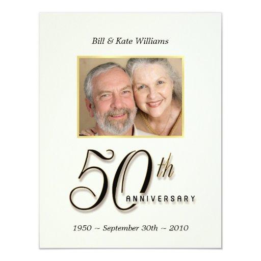50.o aniversario - invitaciones contemporáneas de comunicado personalizado